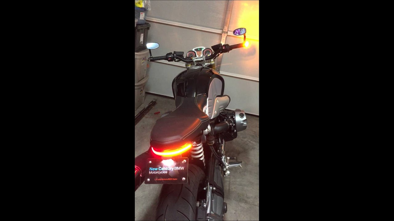 Fancybikething Tail Light Tidy Kit For My Bmw R Nine T Along With The Motogadget Bar End
