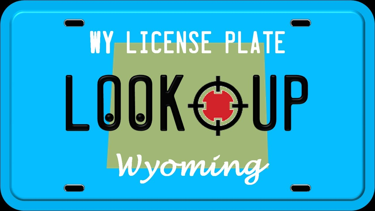 how to reverse search a wyoming license plate number youtube. Black Bedroom Furniture Sets. Home Design Ideas
