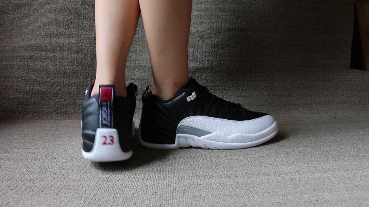 "9047f08ba2b5d7 Air Jordan 12 Low ""Playoff"" On Foot - YouTube"