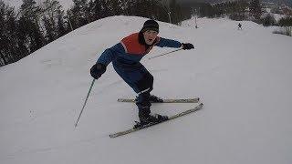 Катаемся с Алюней на горных лыжах ⛷️