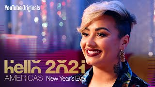 Demi lovato shares a message on mindfulness and how to start the new year peacefully 's hello 2021: americas. find more clips performances here...