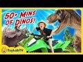 Dinosaur Adventure With 50+ Minutes of T-Rex & Fun Kids Surprise Toys