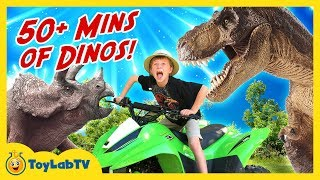 Dinosaur Adventure With 50+ Minutes of T-Rex & Fun Kids Surprise Toys