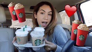 TRYING EVERY SINGLE STARBUCKS HOLIDAY DRINK (part 2!!)
