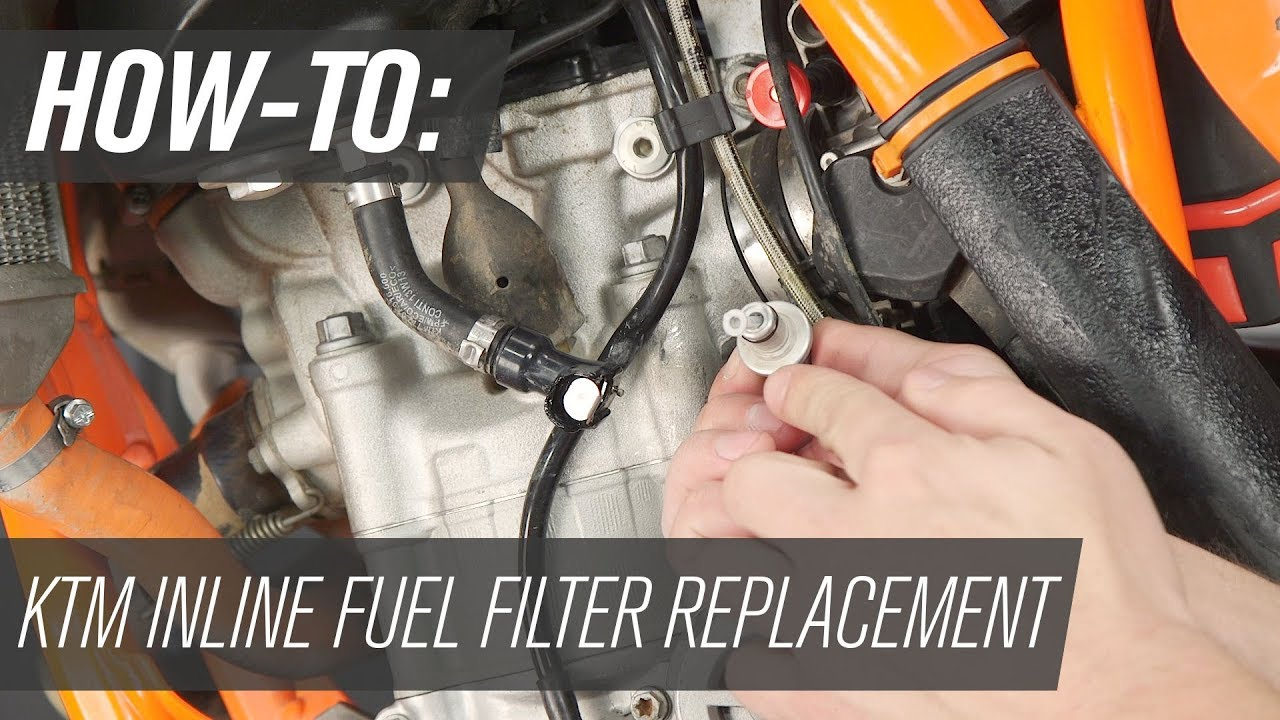 How To Replace The Inline Fuel Filter On A Ktm Dirt Bike Youtube Lc4 400 Wiring Diagram