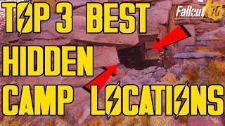FALLOUT 76 - TOP 3 BEST HIDDEN CAMP LOCATIONS! *CRAZY CAMP LOCATIONS* MOST UNEXPECTED CAMP LOCATIONS