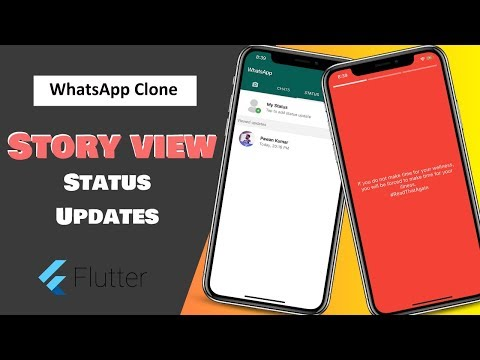 Flutter: WhatsApp Clone Status View   Story View Feature Tutorial