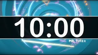 10 Minute Timer with Cool Upbeat Music for Kids! Chill Instrumental Countdown Timer HD!
