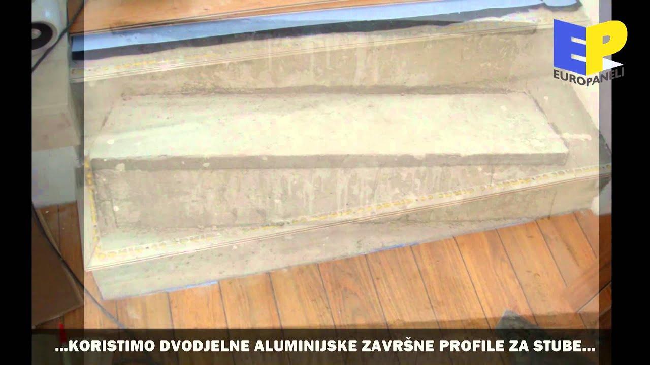 OBLAGANJE STUBIŠTA - GAZIŠTA I ČELA - SA LAMINATOM - YouTube