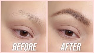 How to fake thick eyebrows when you have no brow hairs