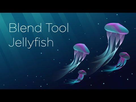 Vector Stroke Jellyfish | Blend Tool Tutorial | Adobe Illustrator