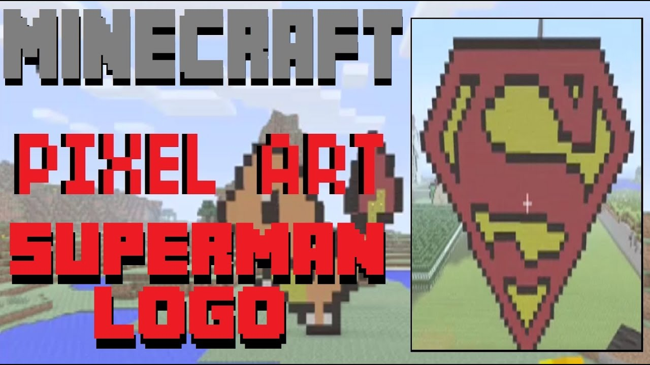 Minecraft Pixel Art Superman Logo Tutorial