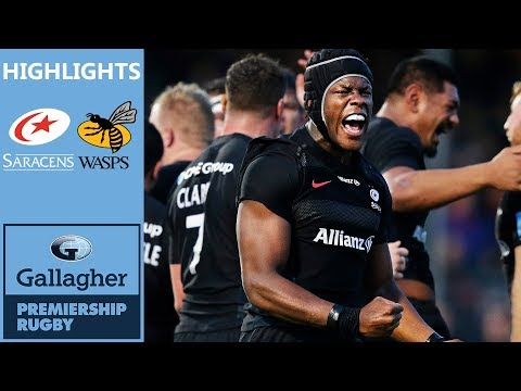 Saracens Look to Extend Winning Record | Saracens v Wasps | Gallagher Premiership Highlights