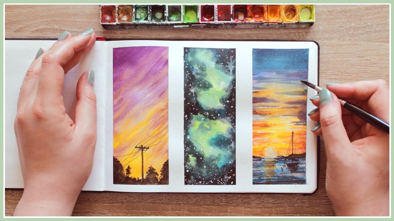 Watercolor painting ideas for beginners wet in wet for Watercolor painting ideas beginners