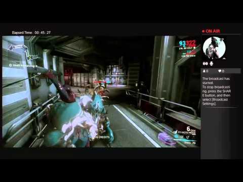 Inglacious's Live Warframe PS4 Broadcast