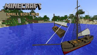 Minecraft Mod Review : Small Boat [1.7.10] - Mod เรือสำเภา!