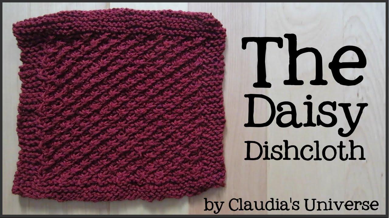 How to Knit a Daisy Dishcloth - YouTube