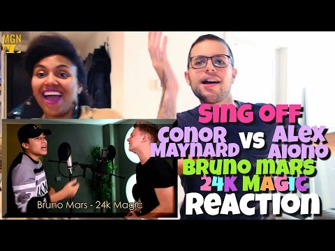 Conor Maynard VS Alex Aiono (Sing Off) - 24K Magic (Bruno Mars) Reaction