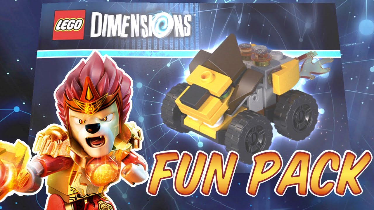 Lego Dimensions Chima Lavel Fun Pack Mighty Lion Rider Build