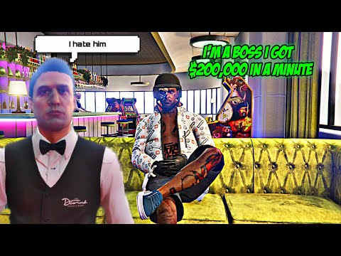When You're A Natural Boss On GTA 5 Online Got $200,000. In A Minute.