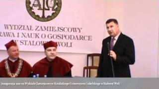 Przyszły Prezydent Stalowej Woli - Wiesław Siembida - K U L WZNoS w Stalowej Woli