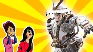 "Apex Legends | People's Reaction to my ""White Samurai"" Bloodhound skin!!"