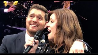 """MICHAEL BUBLÉ SINGS """"A WHOLE NEW WORLD"""" WITH 6TH GRADE TEACHER, Mrs. Fairbanks"""
