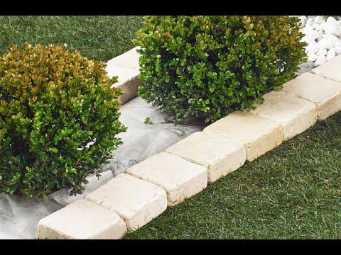 Video guida sotto siepe senza scavo e con bordo in pietra for Bordi per giardino