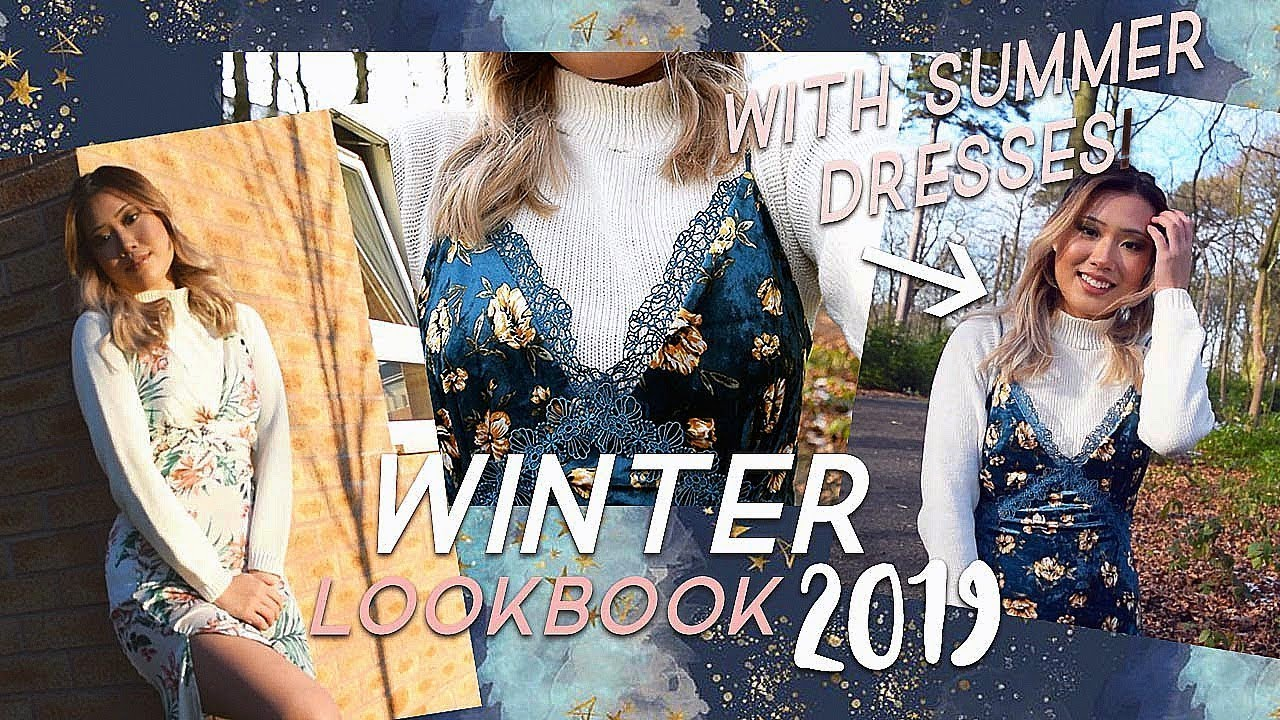 HOW TO STYLE SUMMER DRESSES DURING WINTER SEASON | Winter Lookbook 2019 2