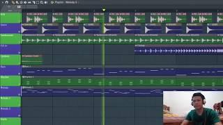Review projek DJ cantik | melodi cantik ( fruty loop ) fl studio