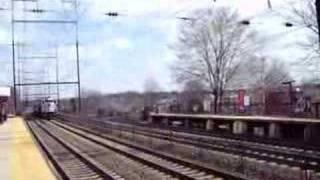 SB NJ Transit Atlantic City Line train heading for the yard