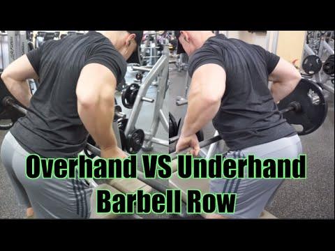 Barbell row (overhand grip)