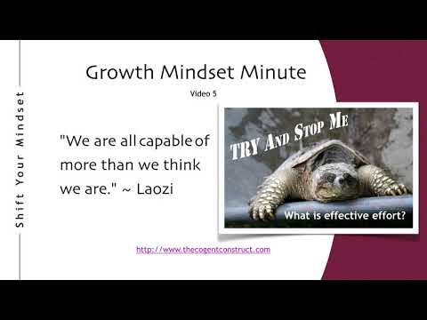 Growth Mindset: What is Effective Effort?