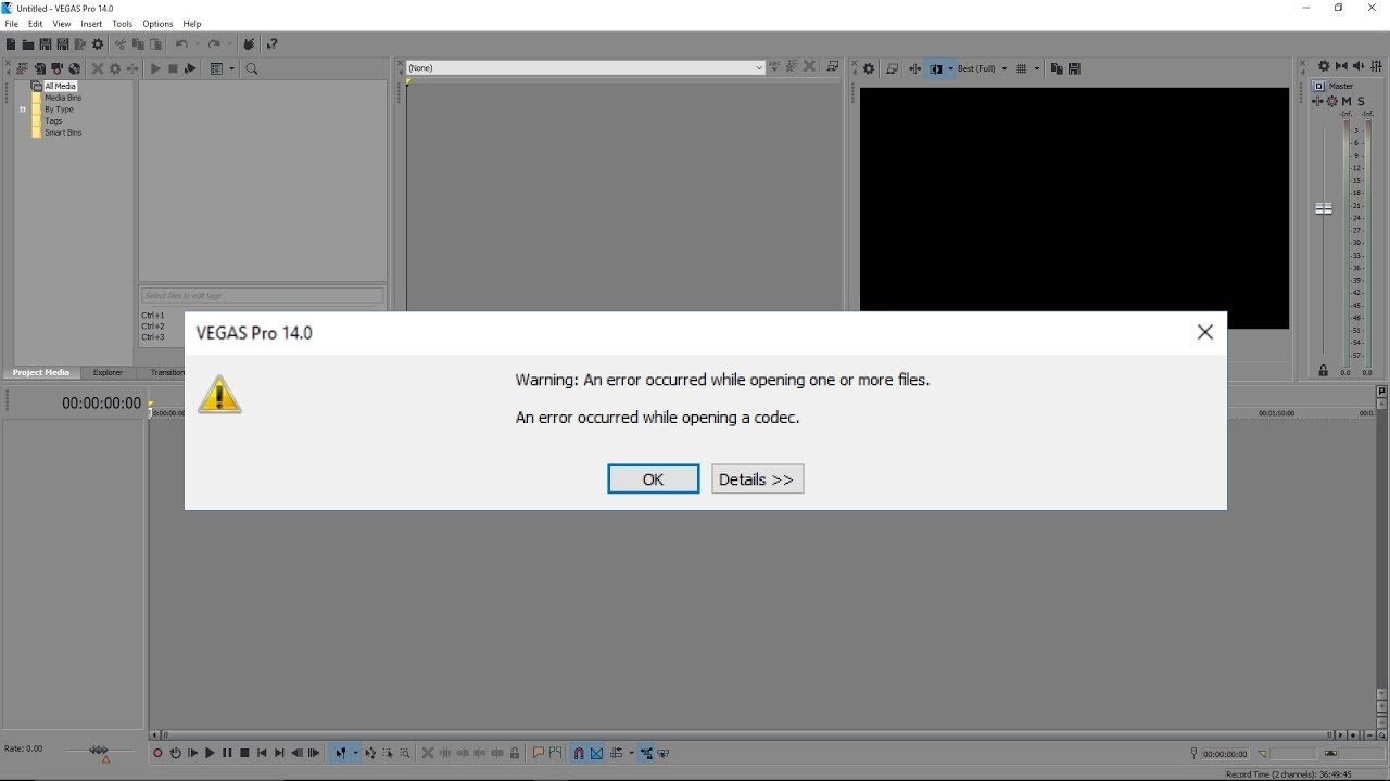 How To Import AVI Format File In Sony Vegas Without An Error | D-TV