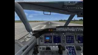 Полет на Boeing-737 default для начинающих FSX