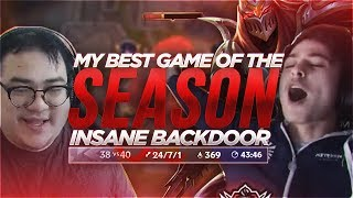 LL STYLISH | MY BEST GAME OF THE SEASON (INSANE BACKDOOR) [ft. Scarra]