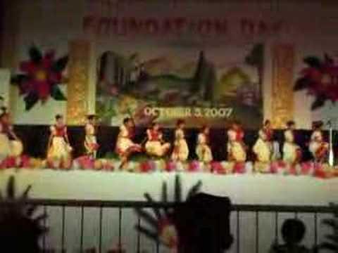 Filipino school children perform Mexican dance