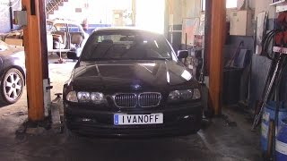 Ремонт автомобиля BMW E46 330D, замена пыльников рулевой рейки, замена натяжителя ремня компрессора