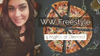 5 NIGHTS OF DINNERS #2!!!/ WEIGHT WATCHERS!!