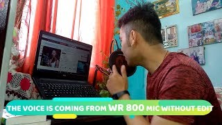 Best Mic for YouTube India 2019 | Wright WR 800 Condenser Microphone LIVE REVIEW + UNBOXING + TEST