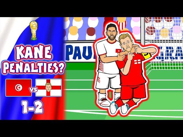 📺Harry Kane ASSAULTED!📺 Tunisia vs England 1-2 (World Cup Parody Goals Highlights)