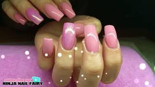 Pink nude Fall nail design | gel polish | simple nail design