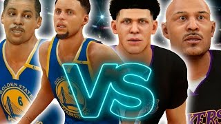 Lonzo And Lavar Ball VS Dell And Steph Curry!! NBA 2K17 Challenge