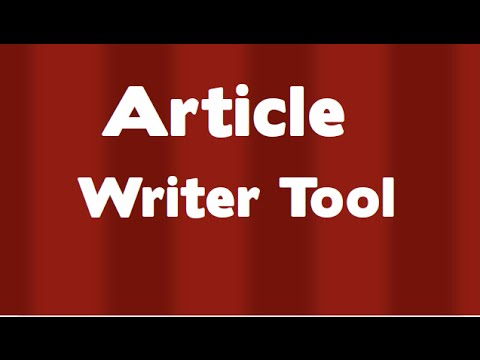 Article writer online