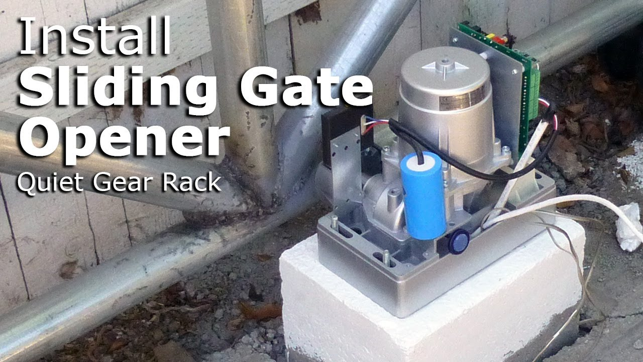 Install Aleko Ar1450 Sliding Gate Opener With Gear Rack