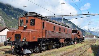 Ae 8/14, Ae 6/6, Ce 6/8 SBB Historic - Fitnessfahrten Erstfeld 2.5.2015