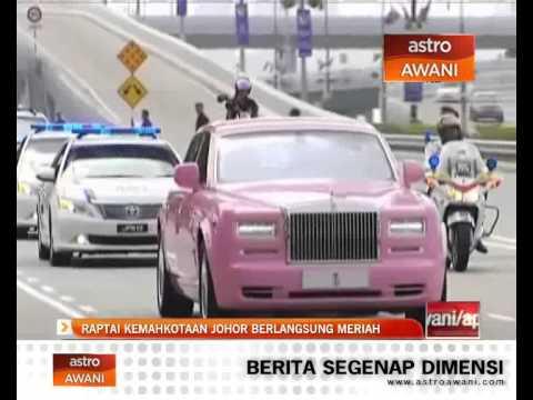 Raptai Kemahkotaan Johor berlangsung meriah