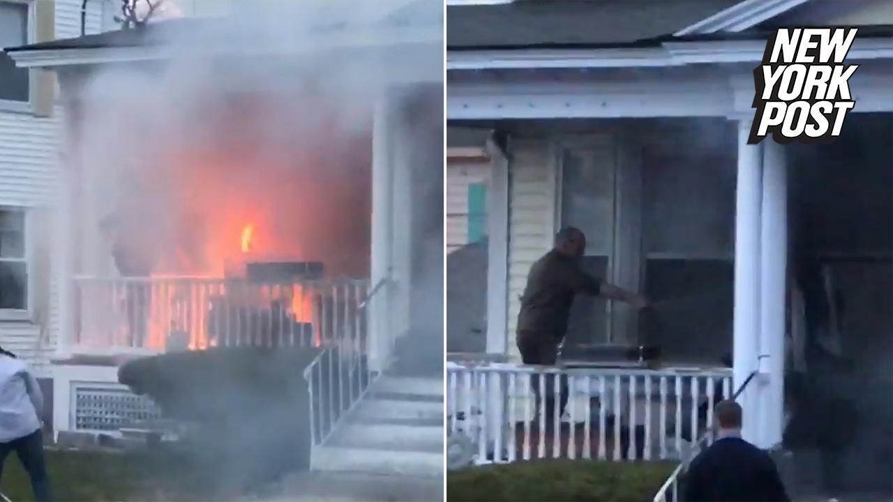 Heroic UPS Guy Puts Out A Fire With A Garden Hose | New York Post