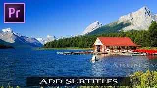 How to Add Subtitles to your Video| Premiere Pro Tutorial தமிழில்