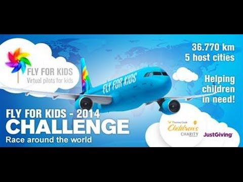 Fly for Kids - Flight around the World on Vatsim for Charity - Final Leg into LSGG